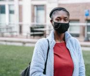 adult woman wearing a mask